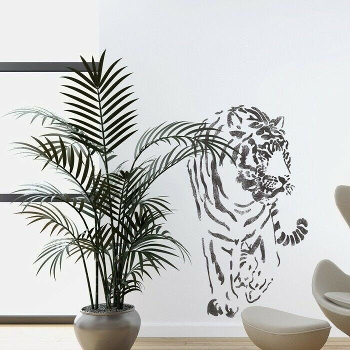 Stencil Templates for Painting Wall Stencils Tiger Stencil Template for Wall