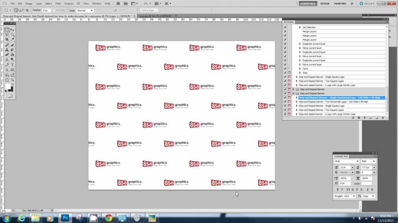 Step and Repeat Template Downloading and Using the Step and Repeat Photoshop Action