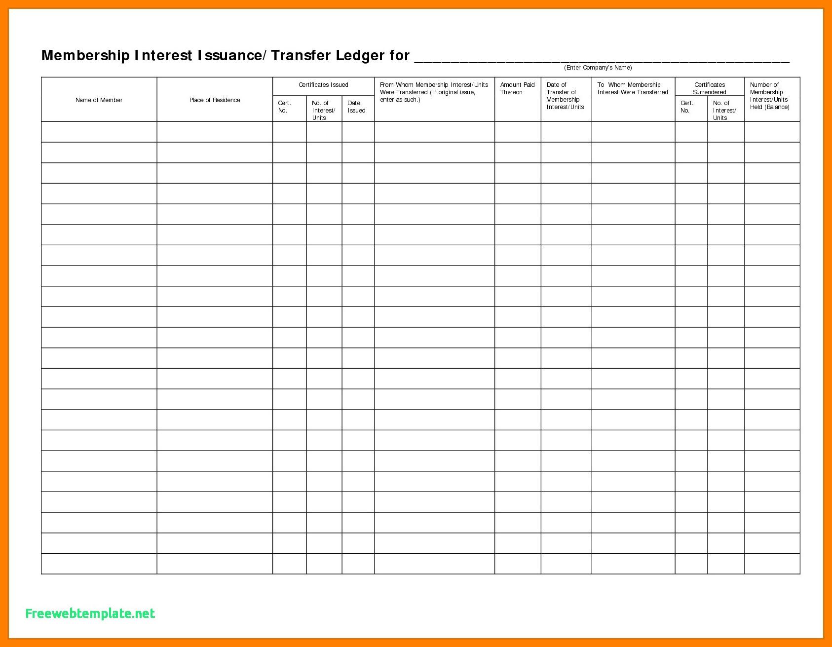 Stock Transfer Ledger Template 5 Stock Transfer Ledger Template Excel