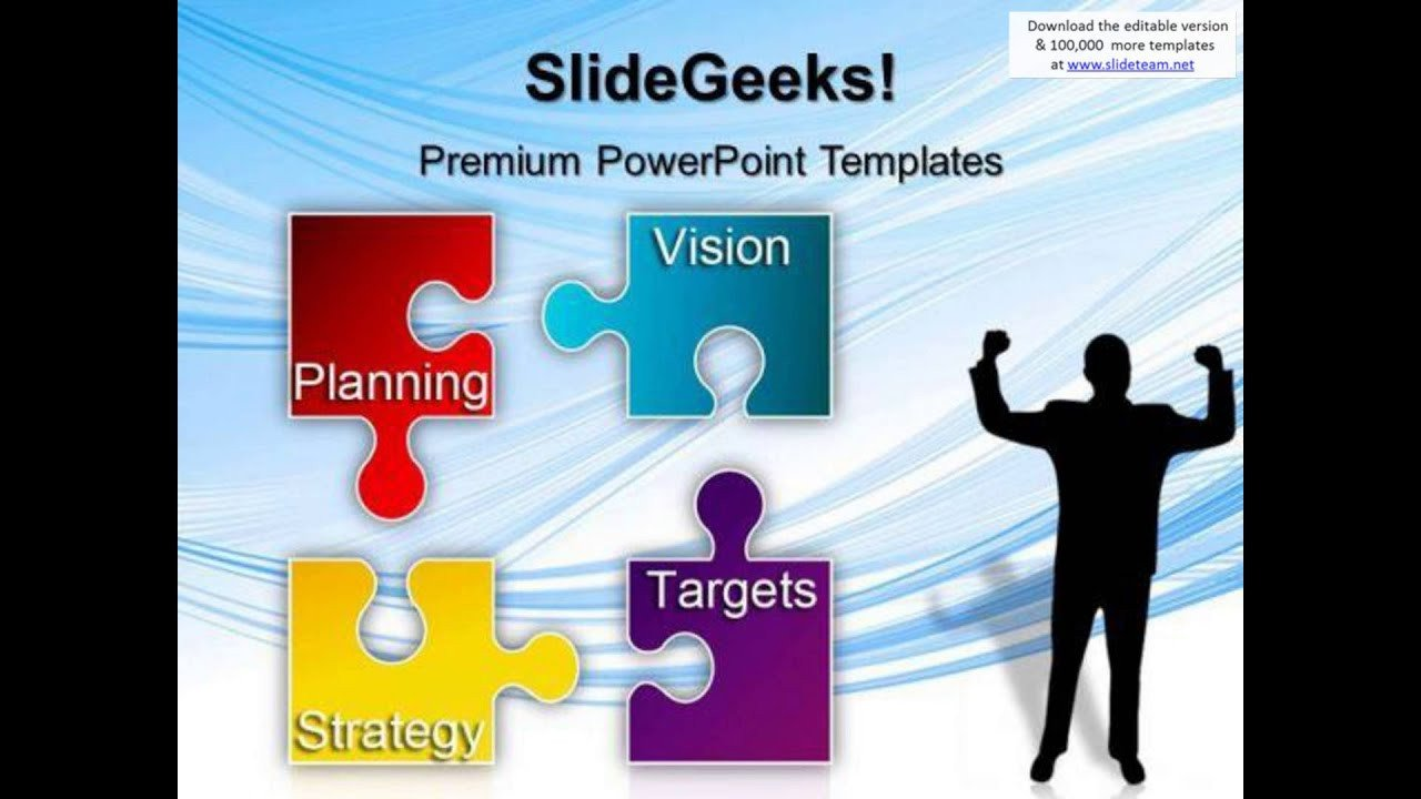Strategic Planning Template Ppt Puzzle Strategy Planning Business Powerpoint Templates and