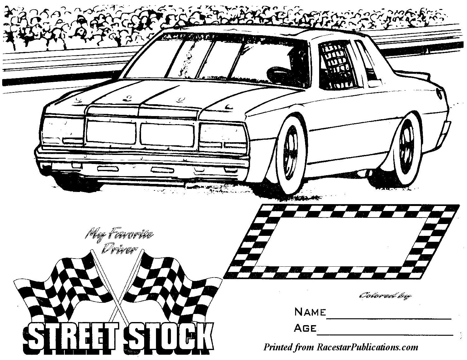 Street Stock Template Pro Mod Drag Car Coloring Pages Coloring Pages
