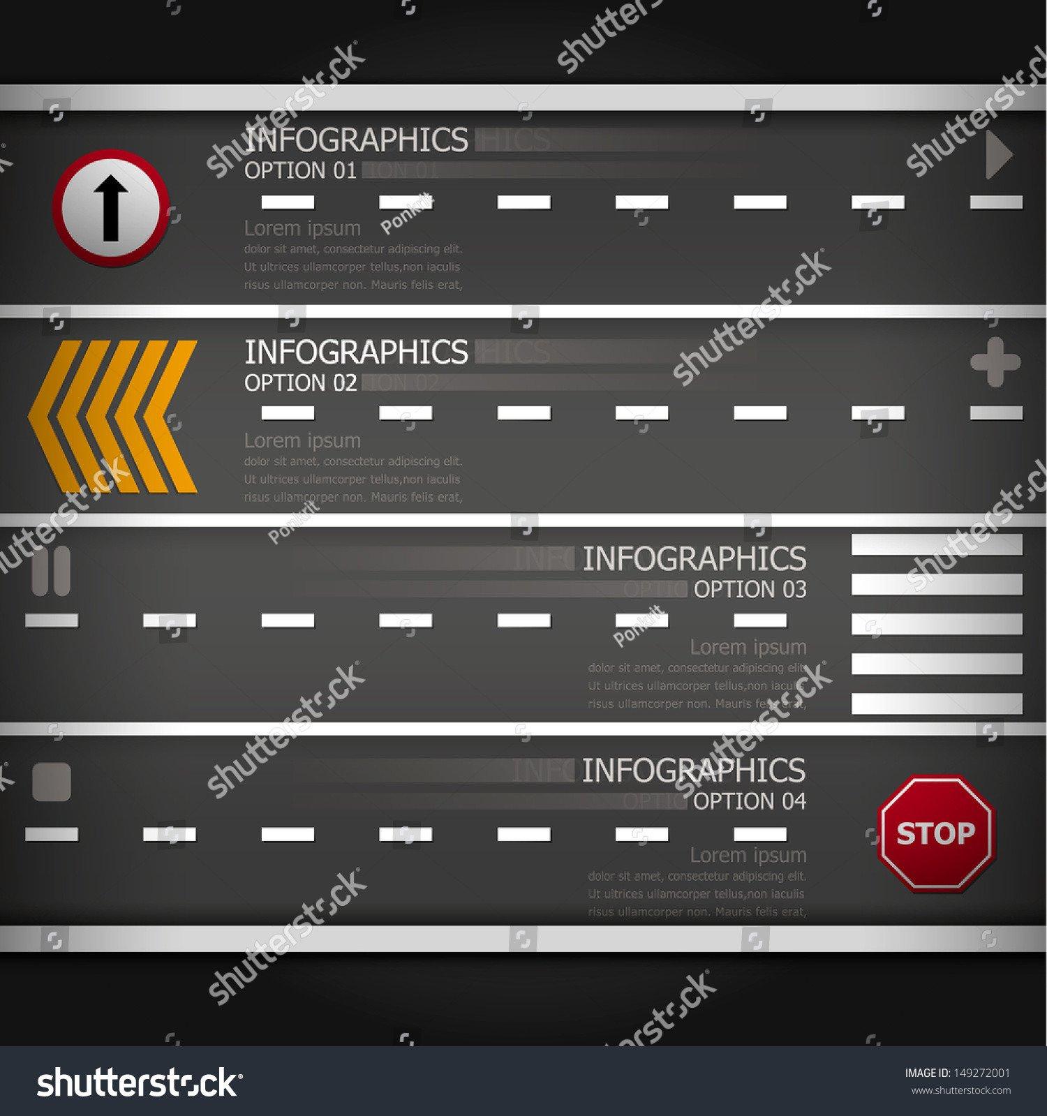 Street Stock Template Street Sign Infographics Design Template Stock Vector