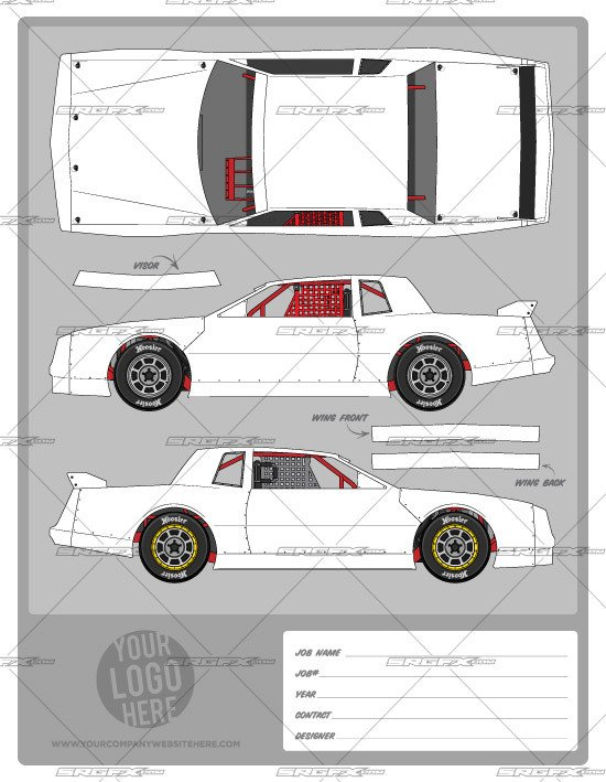 Street Stock Template 1 School of Racing GraphicsSchool