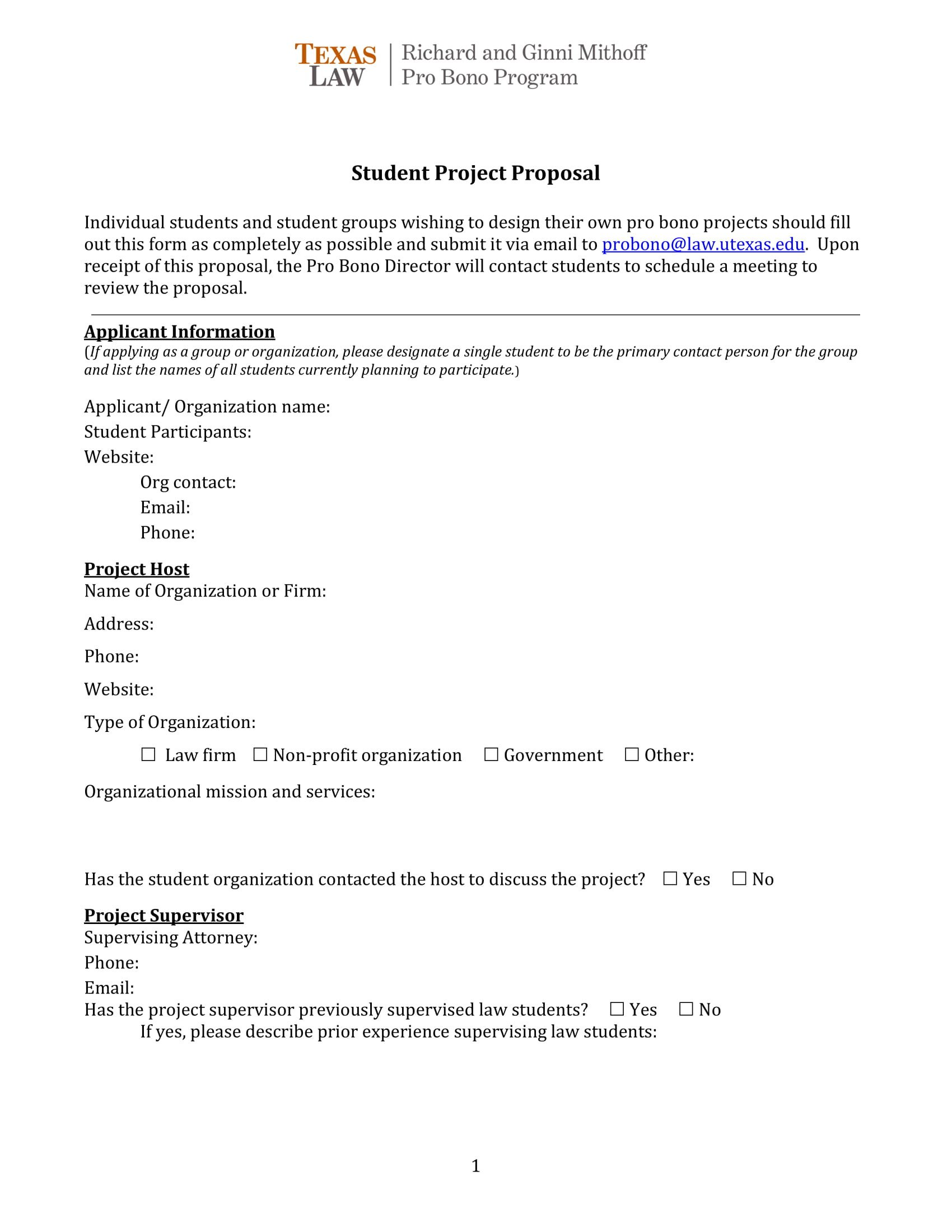 11 Student Project Proposal Examples PDF Word