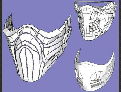 Sub Zero Mask Template 3 Mortal Kombat Mask Papercrafts Free Templates Download
