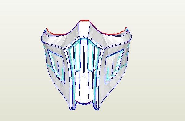 Sub Zero Mask Template Dali Lomo Mortal Kombat Saibot Sub Zero Mask Diy Pdf