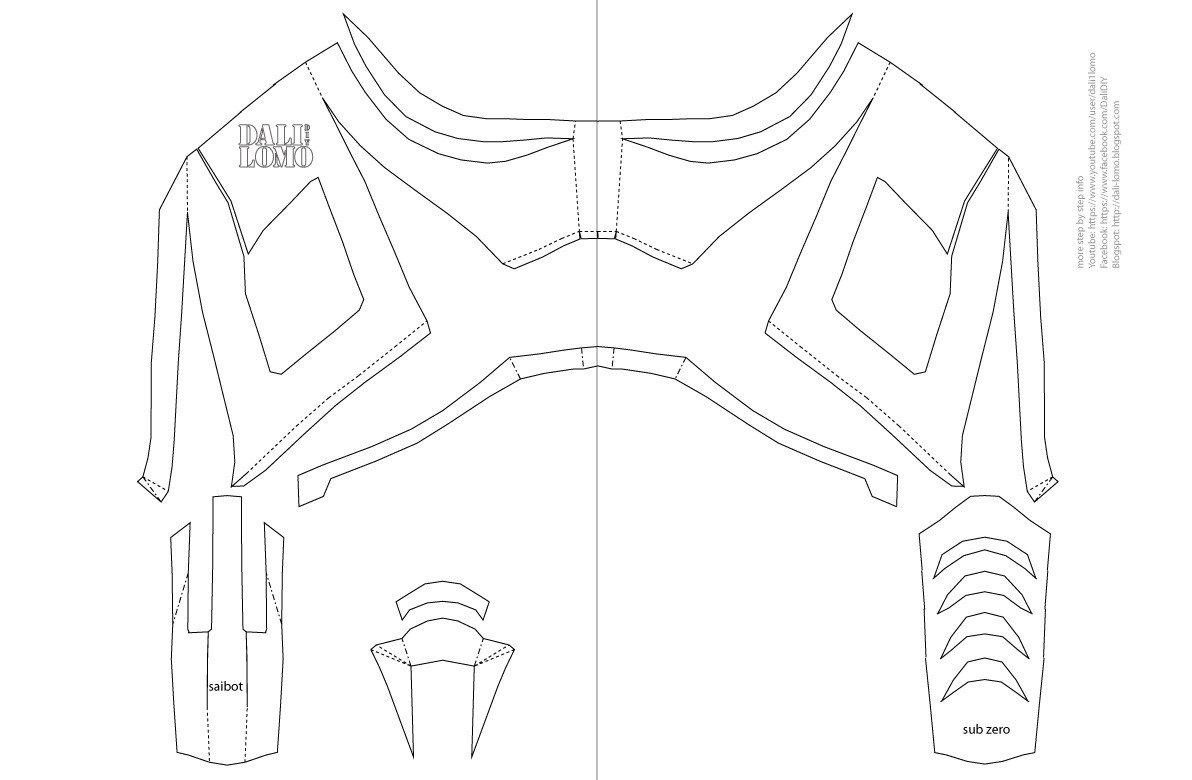 Dali Lomo Mortal Kombat Saibot Sub Zero Mask DIY PDF