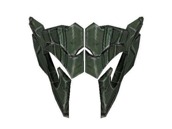 Sub Zero Mask Template Mortal Kombat X Reptile S Mask Papercraft Free Template