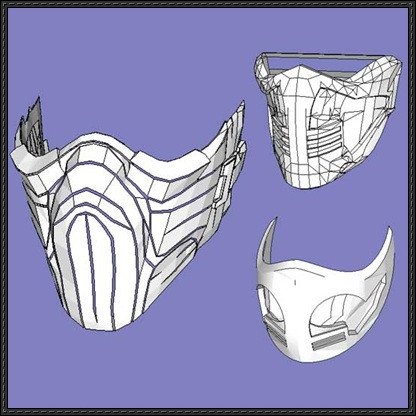 Sub Zero Mask Template Papercraftsquare New Paper Craft 3 Mortal Kombat