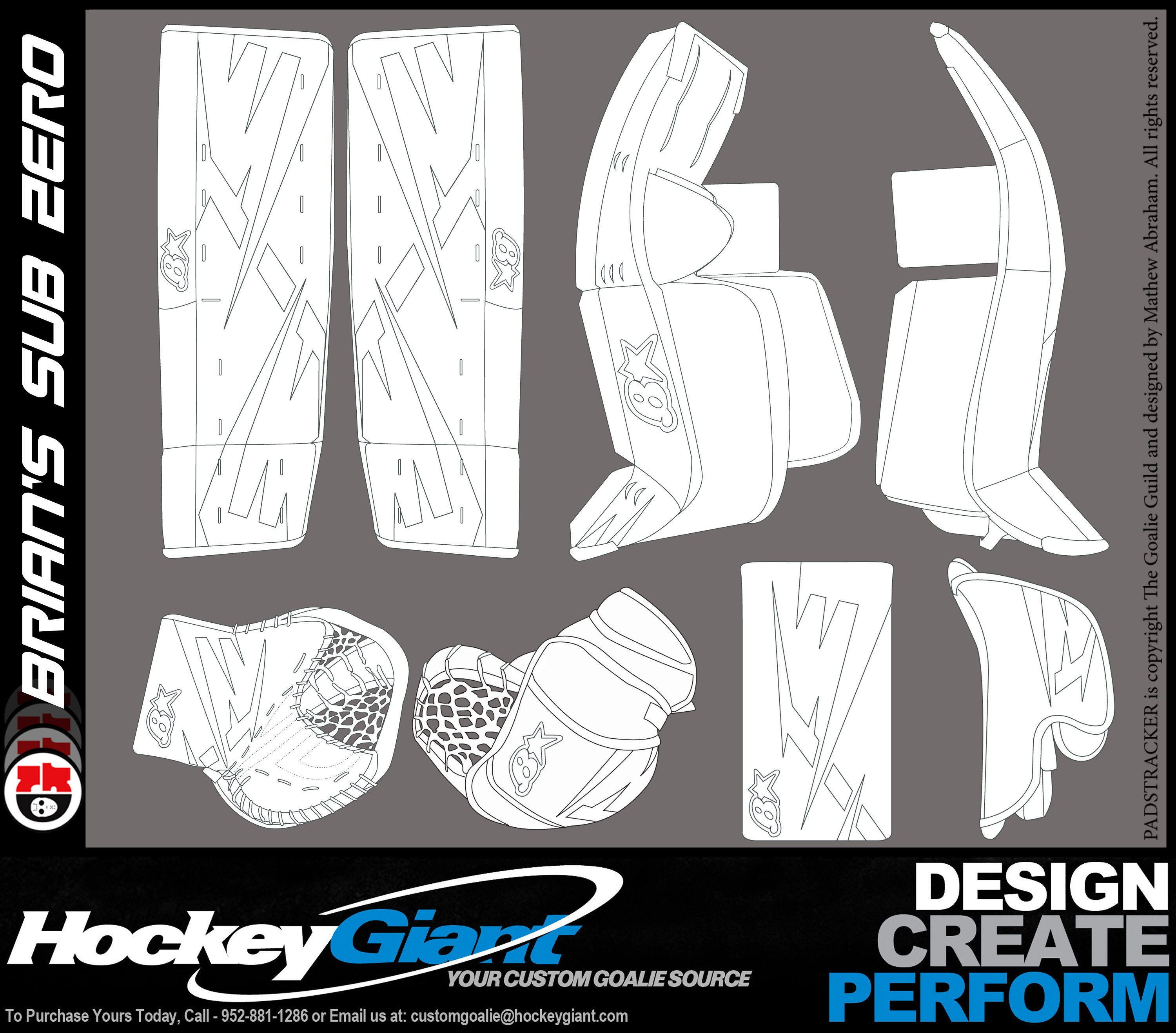 "Sub Zero Mask Template "" Ficial"" Brian S Thread Goalie Store Bulletin Board"