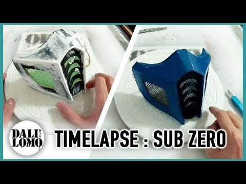 Sub Zero Mask Template Timelapse Making Mortal Kombat Sub Zero Mask Diy Cosplay