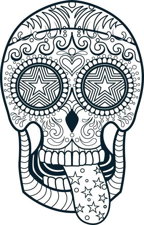 Sugar Skull Drawing Template at GetDrawings
