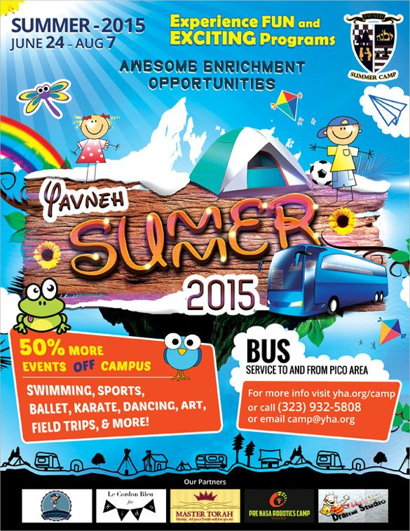 Summer Camp Flyer Template 17 Summer Camp Flyer Templates Word Psd Ai Eps Vector