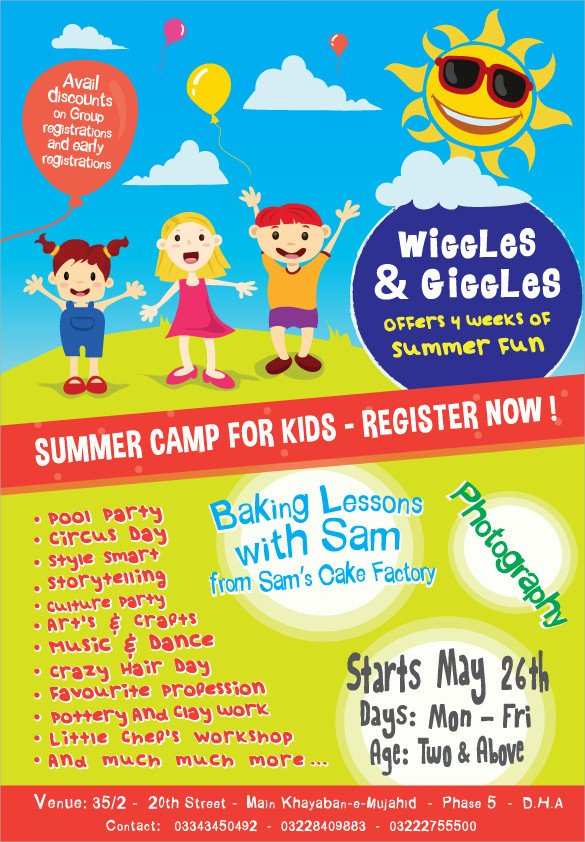 17 Summer Camp Flyer Templates Word PSD AI EPS Vector