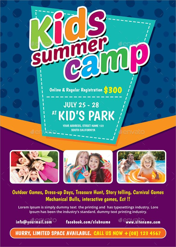 Summer Camp Flyer Template 26 Summer Camp Flyer Templates Word Psd Ai Eps Vector
