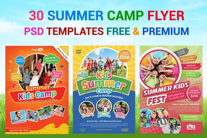 Summer Camp Flyer Template 30 Summer Camp Flyer Psd Templates Free & Premium Designyep