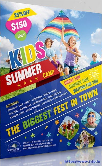 Summer Camp Flyer Template 50 Best Kids Summer Camp Flyer Print Templates 2019