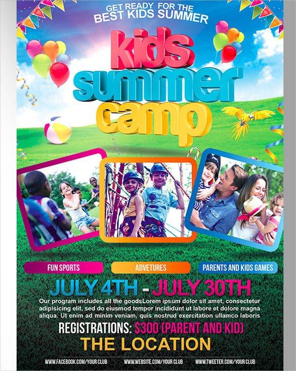 Summer Camp Flyer Template 51 Summer Camp Flyer Templates Psd Eps Indesign Word