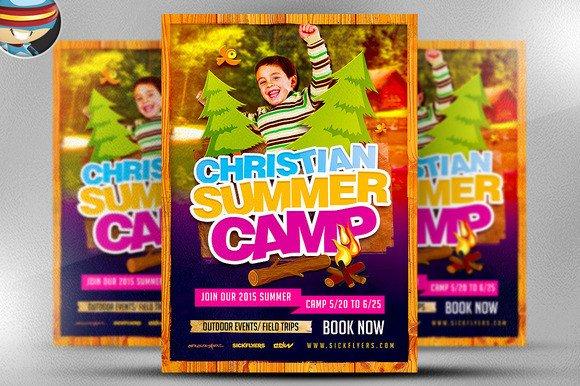 Summer Camp Flyer Template Christian Summer Camp Flyer Template Flyer Templates On