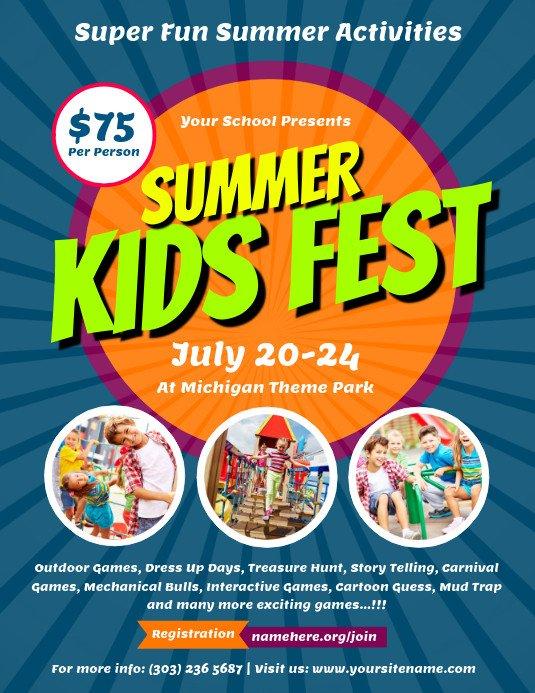 Summer Camp Flyer Template Customize 2 750 Summer Poster Templates