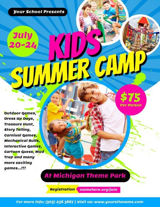 Summer Camp Flyer Template Kids Summer Camp Flyer Template