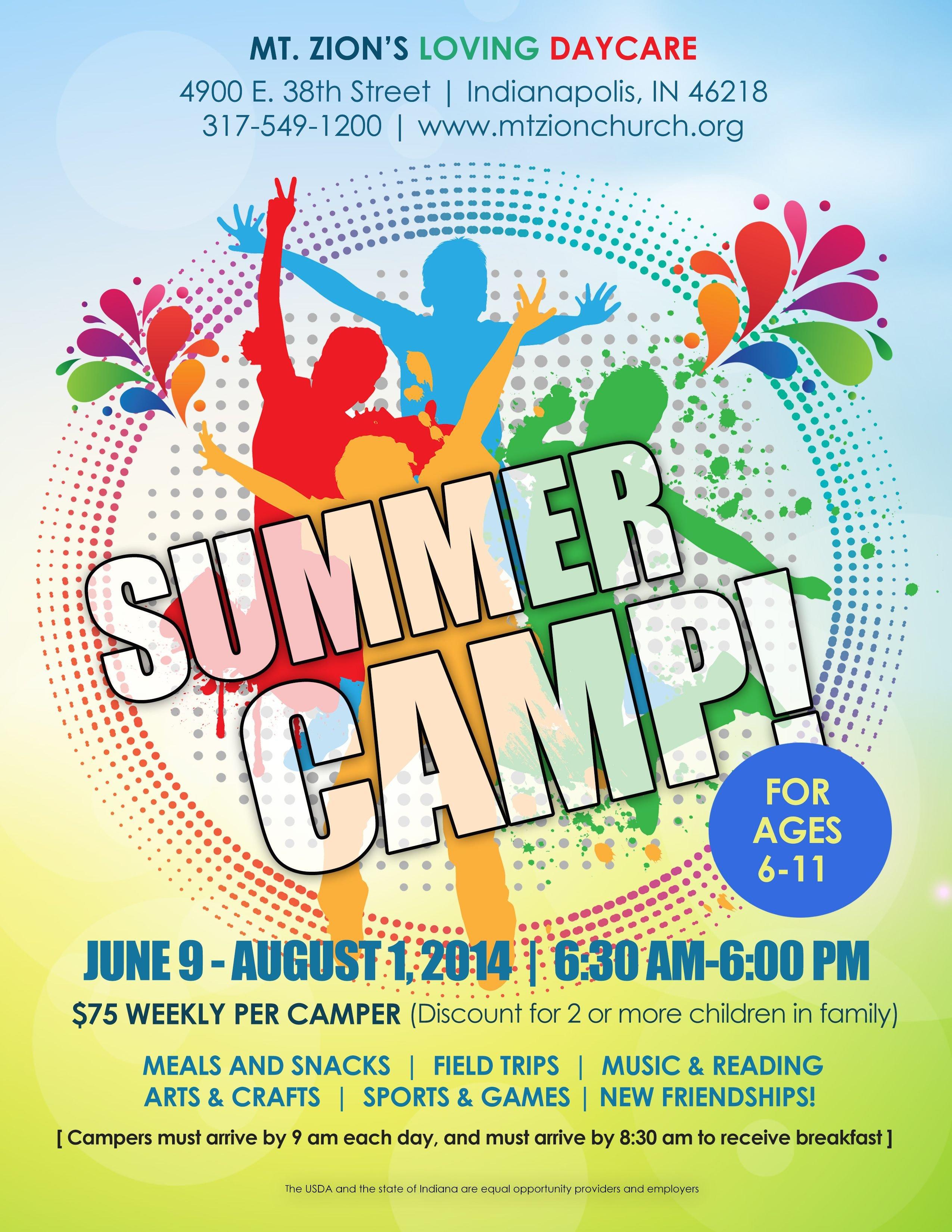 Summer Camp Flyer Template Summer Camp Flyer Idea Kid Min