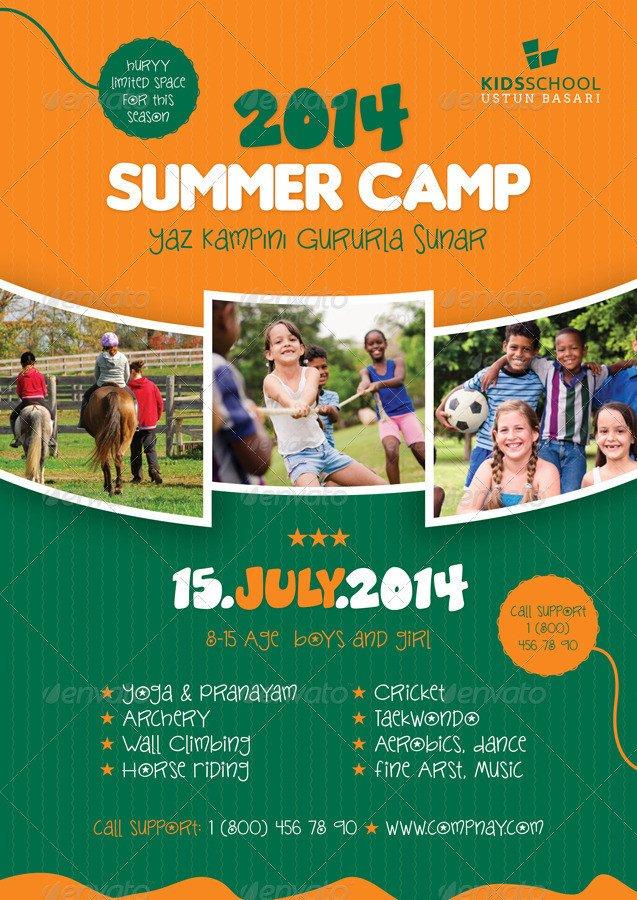 Summer Camp Flyer Template Summer Camp Flyer Templates by Grafilker