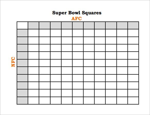 Super Bowl Squares Template Excel 19 Football Pool Templates Word Excel Pdf