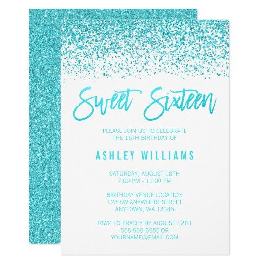 Sweet Sixteen Invitations Templates Sweet 16 Invitations