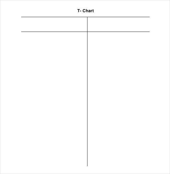 T Chart Template Word 16 T Chart Templates Doc Pdf