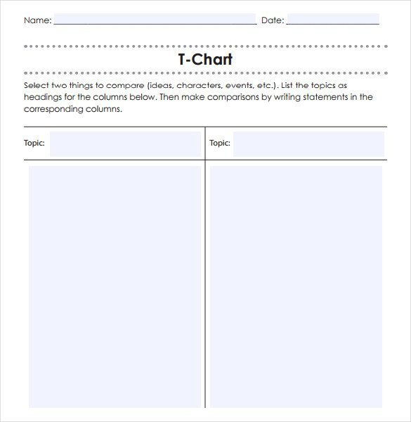 T Chart Template Word Easy and Effective Low Prep oral Activities that Can