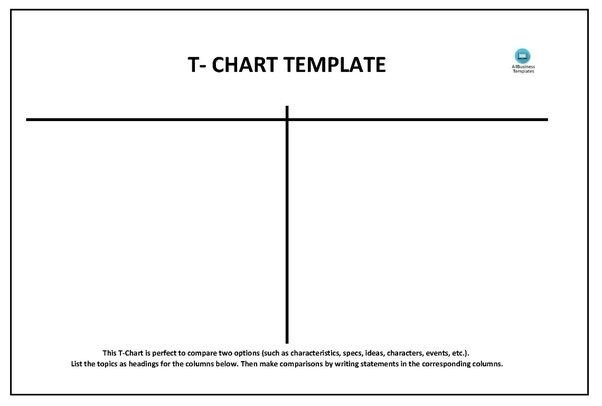 T Chart Template Word How to Create A T Chart In Microsoft Word Quora