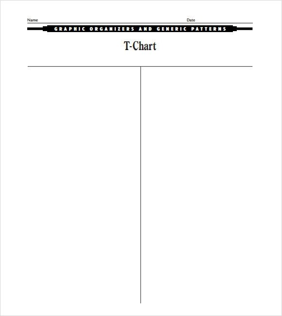 T Chart Template Word Sample T Chart 7 Documents In Pdf Word
