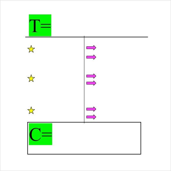 T Chart Template Word Sample T Chart Template 7 Documents In Pdf Word