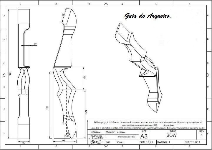 Takedown Bow Riser Template Pinterest • the World's Catalog Of Ideas