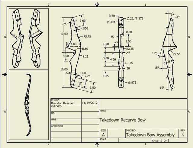 Takedown Bow Riser Template This Thread Shows How to Make A Takedown Bow with