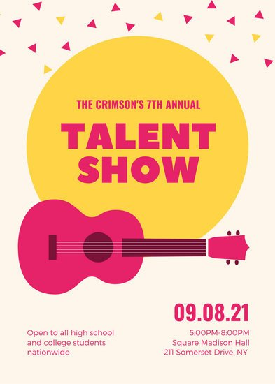 Talent Show Flyer Template Customize 69 Talent Show Flyer Templates Online Canva