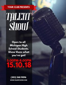 Talent Show Flyer Template Customize 850 Karaoke Poster Templates