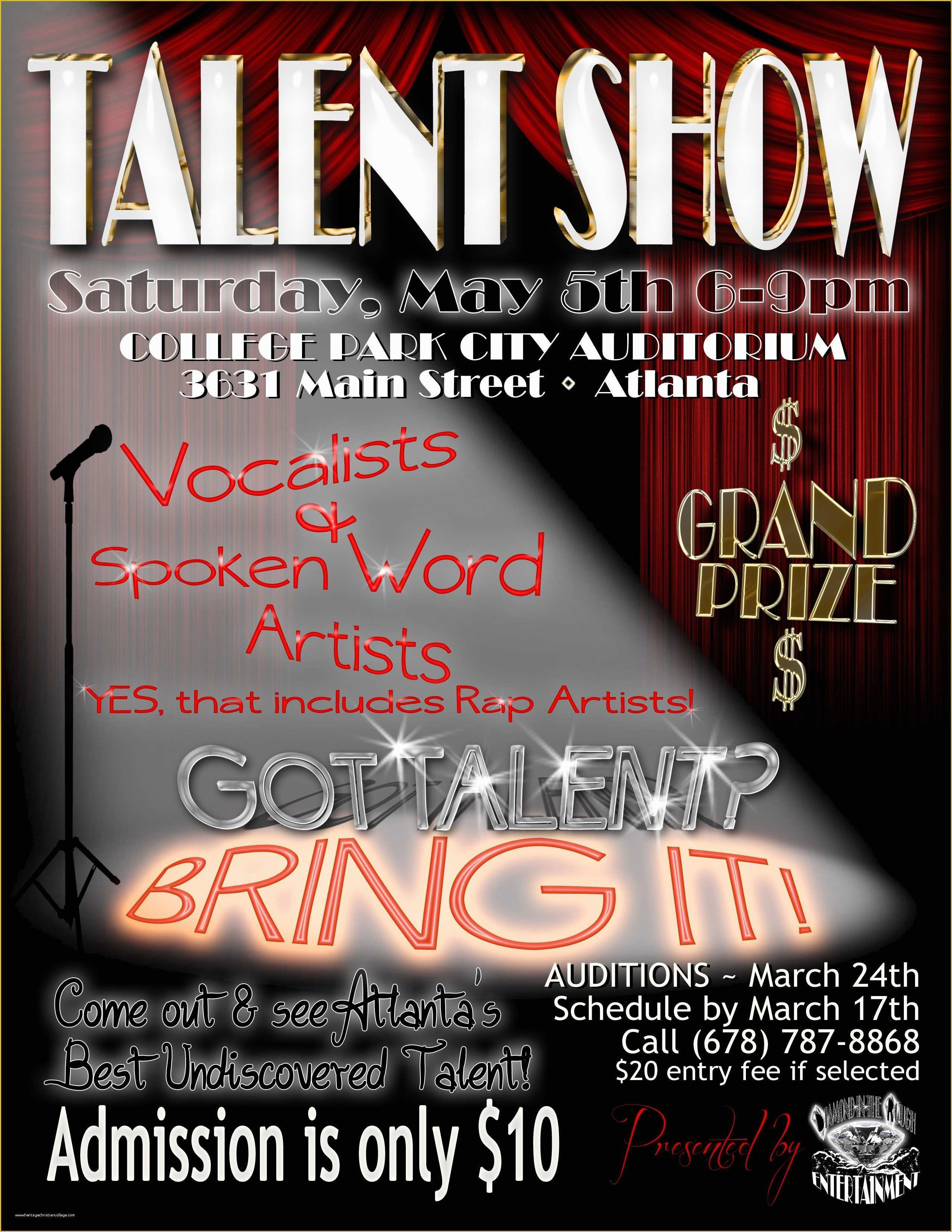 Talent Show Flyer Template Free Printable Talent Show Flyer Template 26 Talent