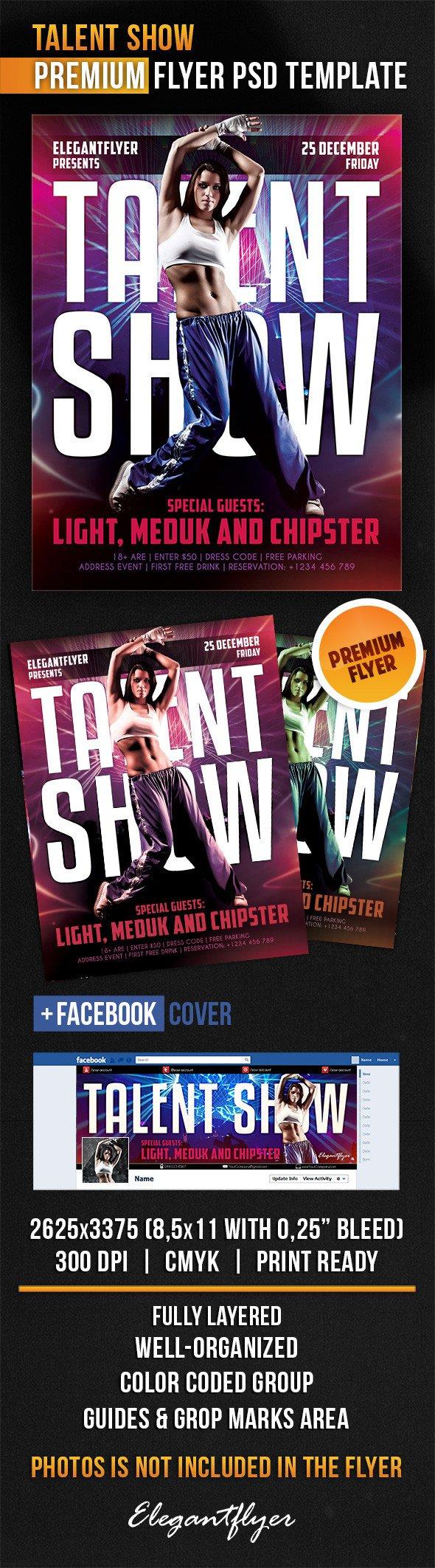 Talent Show Flyer Template Talent Show – Flyer Psd Template – by Elegantflyer