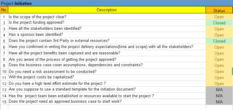 Task Checklist Template Excel Project Management Checklist Excel Template Free