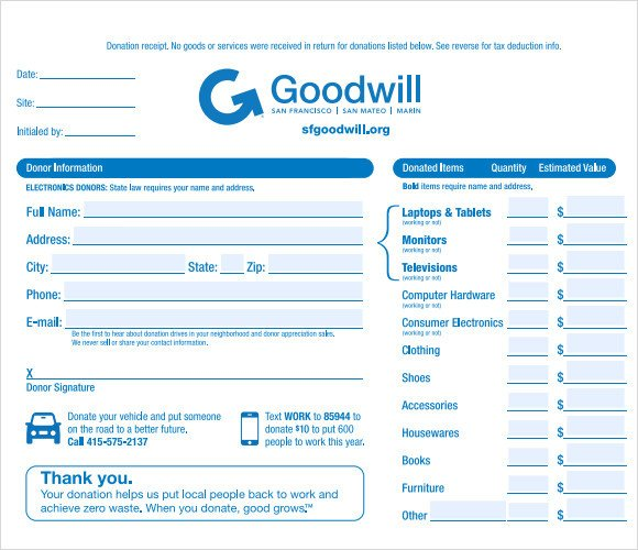 Tax Donation form Template 9 Donation Receipt Templates Free Samples Examples format