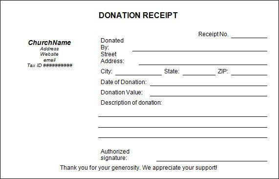Tax Donation form Template Sample Donation Receipt Template 17 Free Documents In