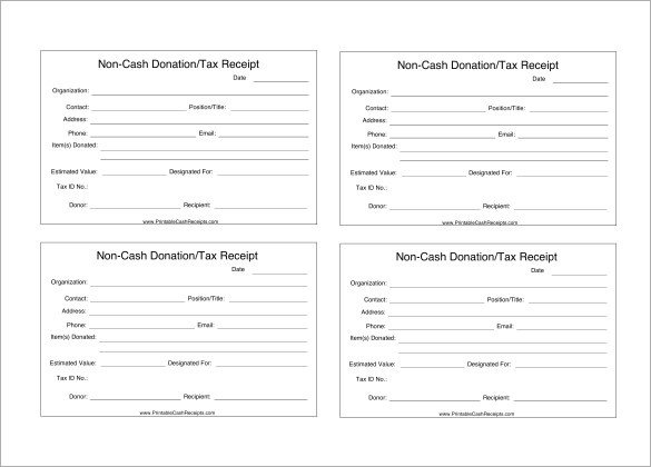 Tax Donation form Template Tax Deductible Donation Receipt Template
