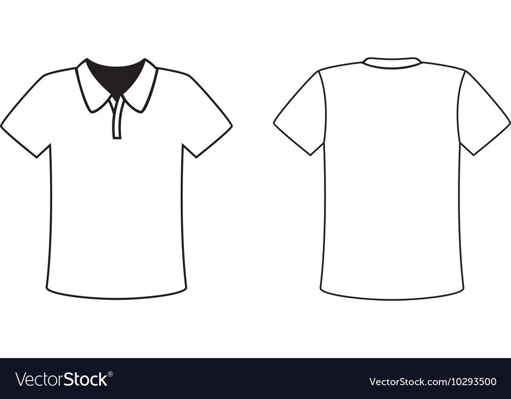 Tee Shirt Design Template Blank Front and Back Polo T Shirt Design Template Vector Image