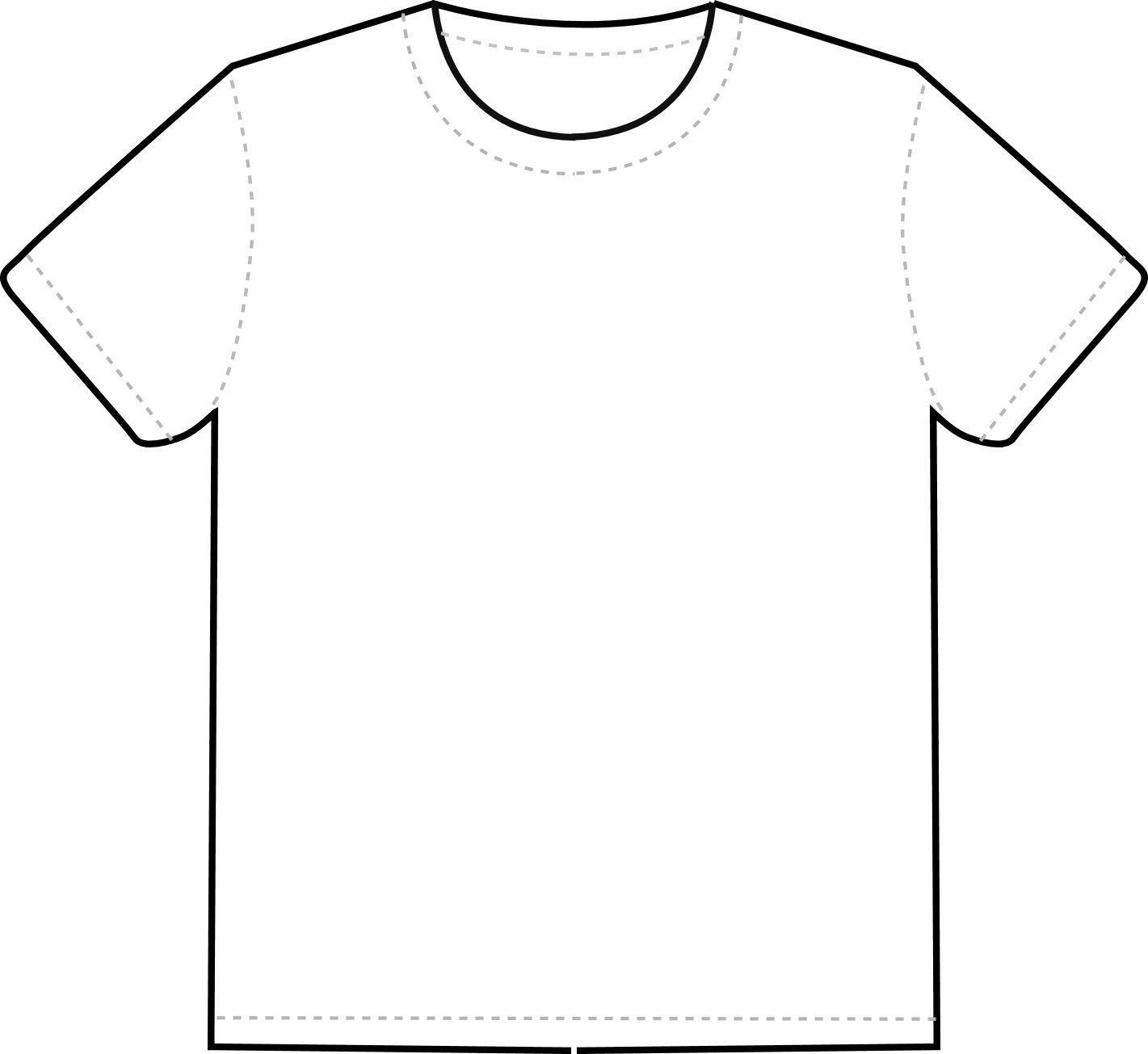 Tee Shirt Design Template T Shirt Outline Clipart Clipart Best Clipart Best