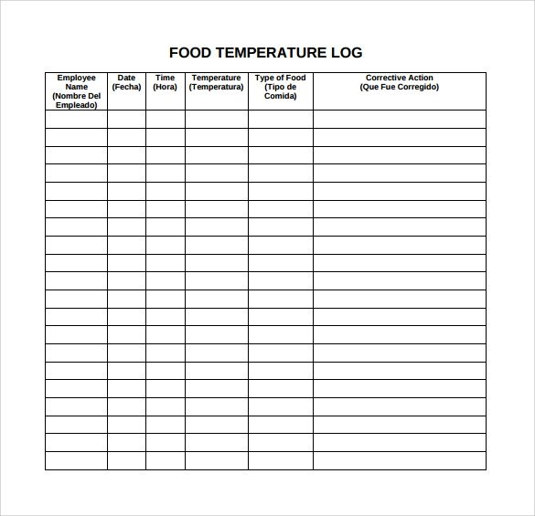 Food Log Template 16 Download Free Documents in PDF