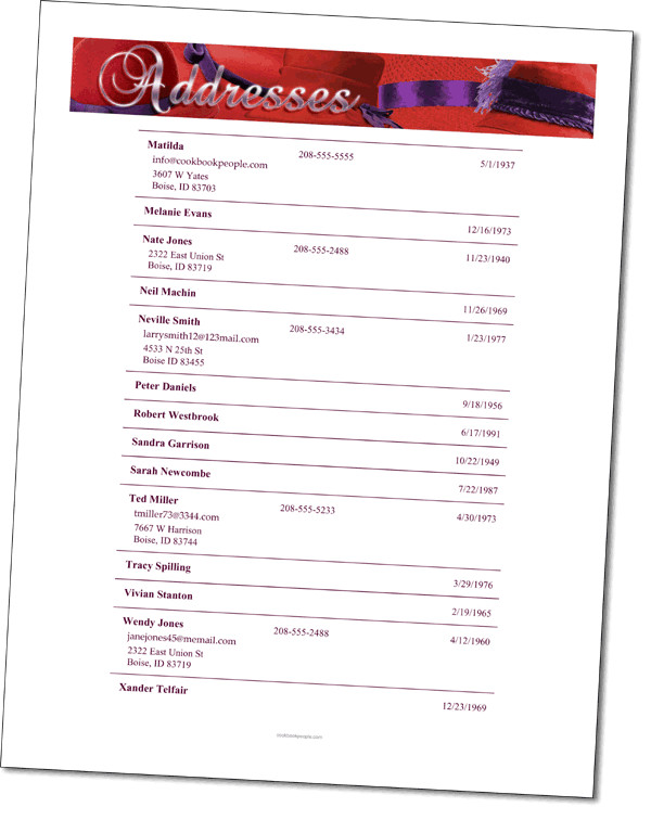 Template for Church Directory 5 Church Directory Templates Excel Templates
