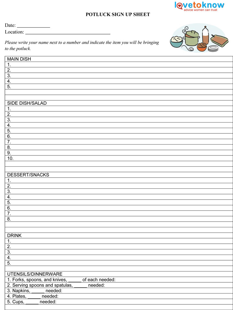 Template for Sign Up Sheet 9 Sign Up Sheet Templates to Make Your Own Sign Up Sheets