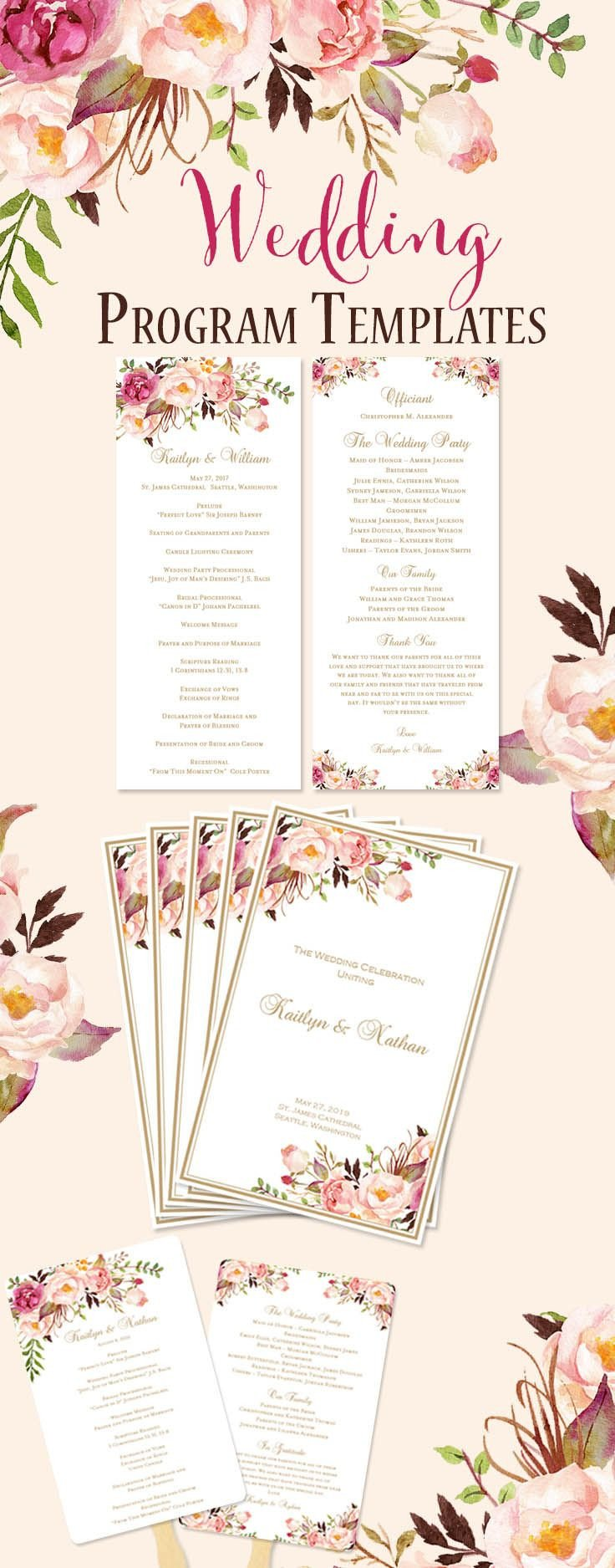Templates for Wedding Programs Best 25 Wedding Program Templates Ideas On Pinterest
